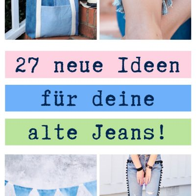 Jeans upcycling idee ideen nähen nähideen nachhaltig diy jeanshose alt mach neu pimpen refashion was kann man aus alten jeans machen