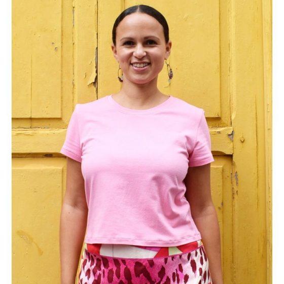 T-Shirt nähen mit Schnittmuster Video Anleitung Tutorial DIY MODE Kemi Basicshirt einfach für Frauen Nähanfänger Damenshirt