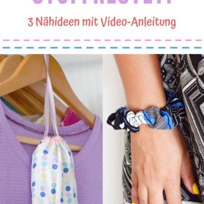 Nähideen für Stoffreste Video Anleitung DIY MODE Ideen Nähen