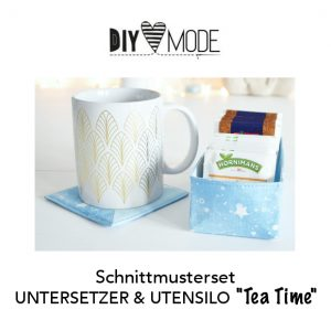 "Schnittmuster UNTERSETZER & UTENSILO ""Tea Time"""