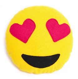Emoji Kissen Herzaugen nähen