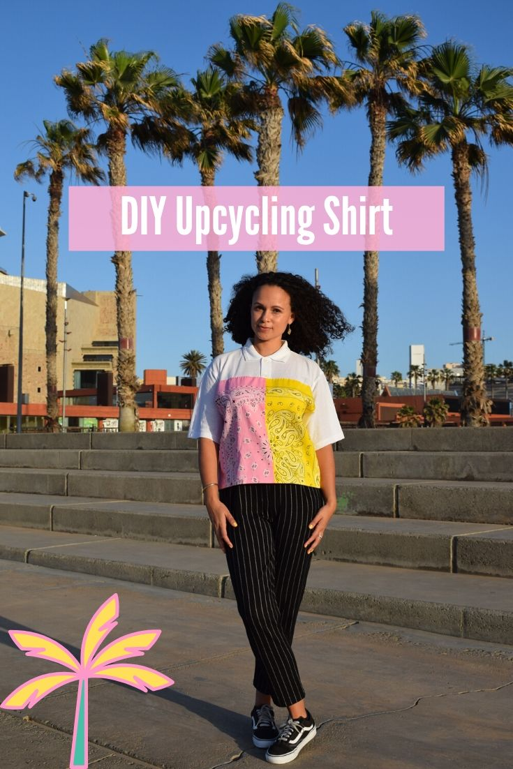 DIY MODE Upcycling Poloshirt Bandana T-Shirt