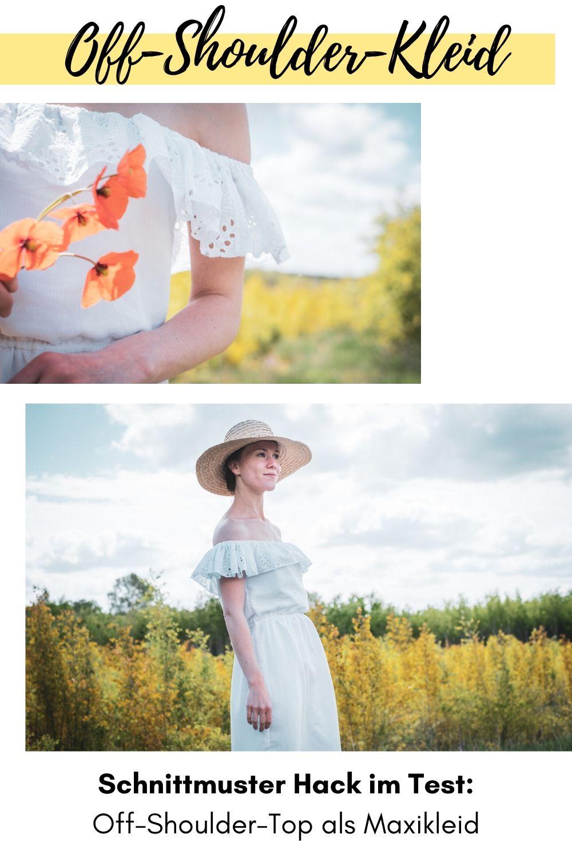 DIY MODE Outfit Off-Shoulder-Top Patternhack