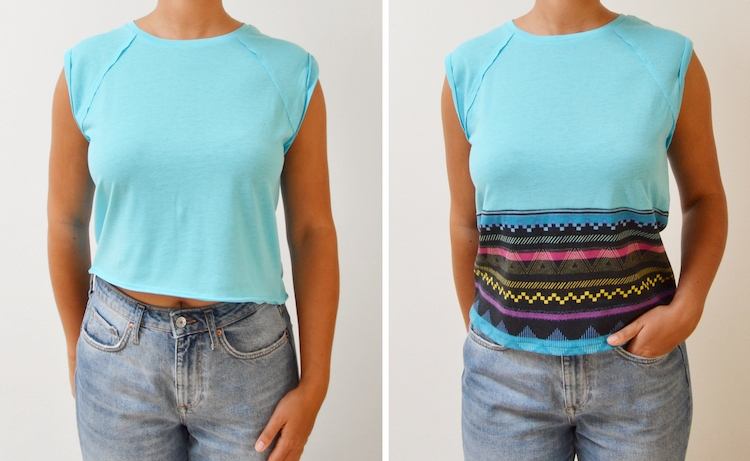 T-Shirt Upcycling Idee