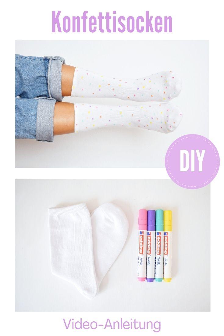 DIY Idee Konfetti Socken