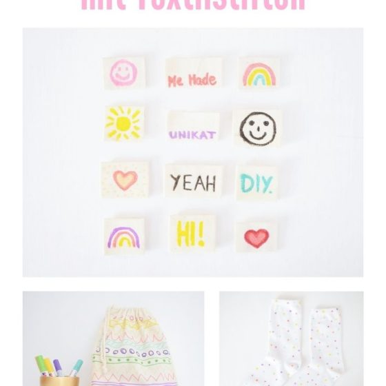 DIY Ideen mit Textilstiften