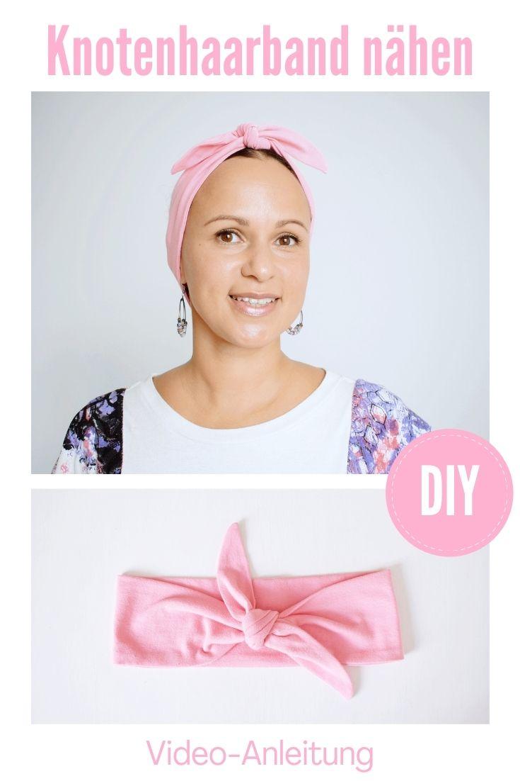 Haarband nähen Jersey Video Anleitung Stirnband Knotenhaarband DIY MODE 3