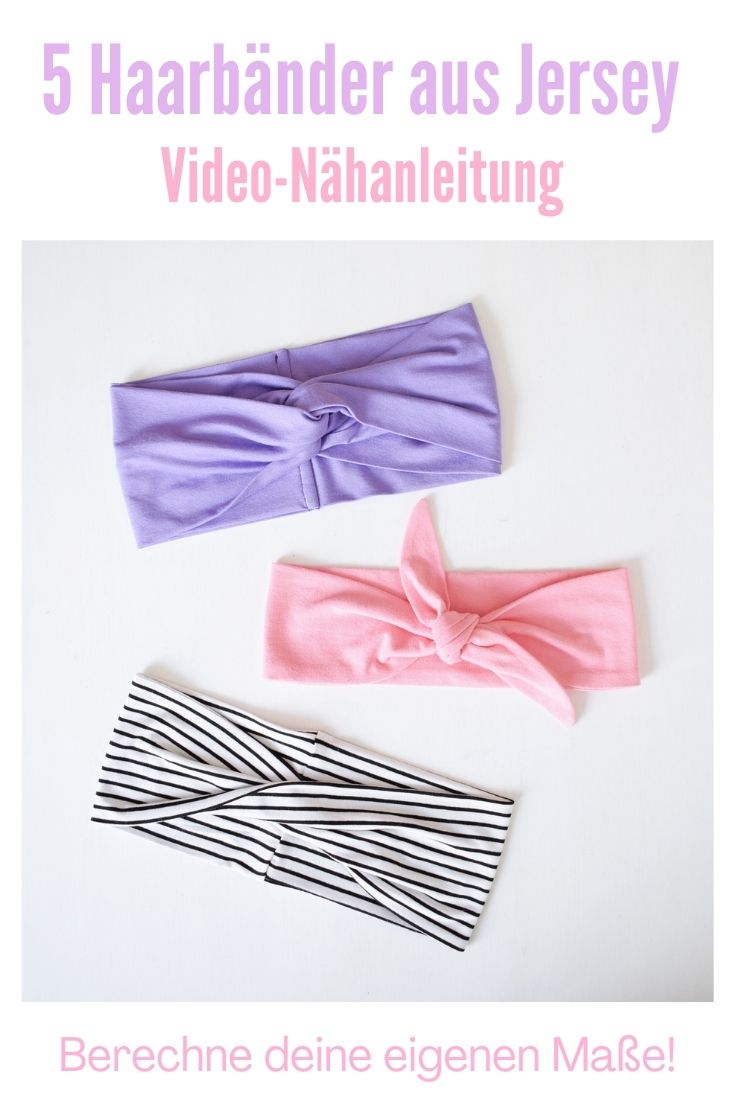Haarband nähen Jersey Video Anleitung Stirnband Turnbanhaarband Bandeauhaarband Knotenhaarband DIY MODE 4.jpg