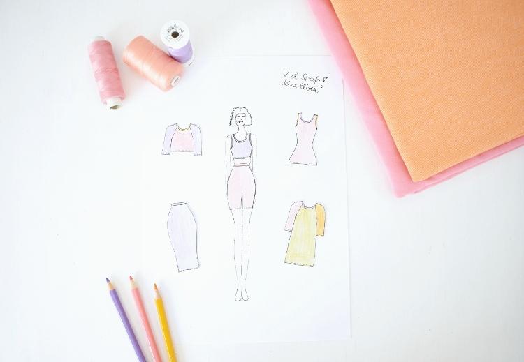 DIY MODE Naehplaner Kollektion cream Schnittmuster Modezeichnung pdf